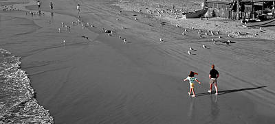 Photograph - A Walk On The Beach With Dad by James Rasmusson