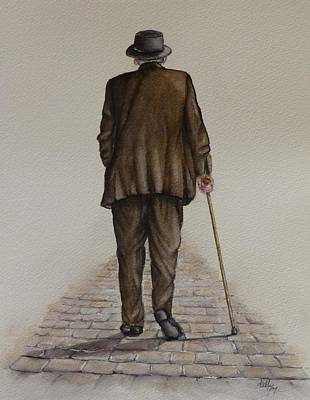 Painting - A Walk On The Old Cobblestone by Kelly Mills