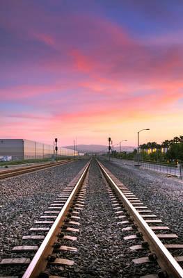 Photograph - A Walk On The Tracks by Eddie Yerkish