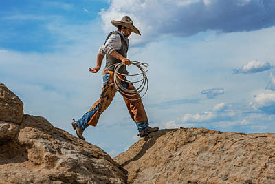 Cowboy Photograph - A Walk On The Wild Side by Pamela Steege