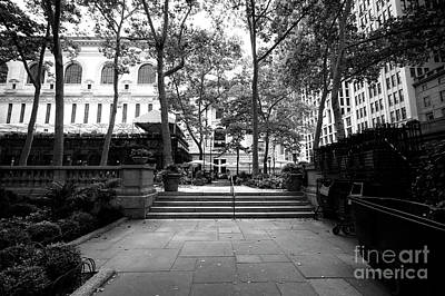 Art Print featuring the photograph A Walk Through Bryant Park by John Rizzuto