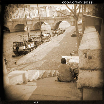 A Walk Through Paris 1 Art Print by Mike McGlothlen