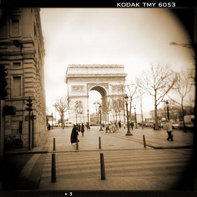 Square Art Digital Art - A Walk Through Paris 3 by Mike McGlothlen