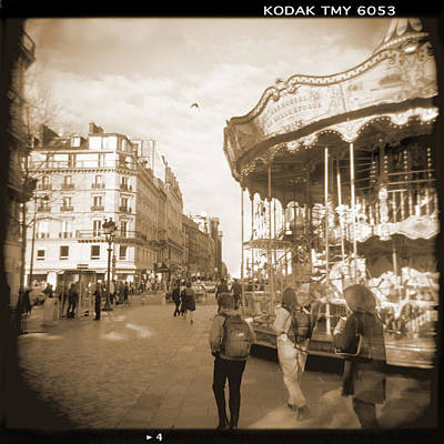 Carousel Photograph - A Walk Through Paris 4 by Mike McGlothlen