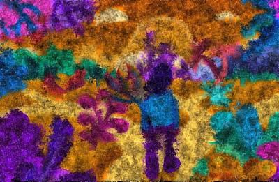 Digital Art - A Walk Through Psychedelic Paradise by Mario Carini