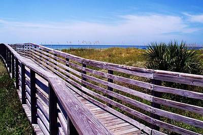 Romo Photograph - A Walk To The Beach by Robin Monroe