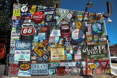 Photograph - A Wall Of Signs by Steve Gravano