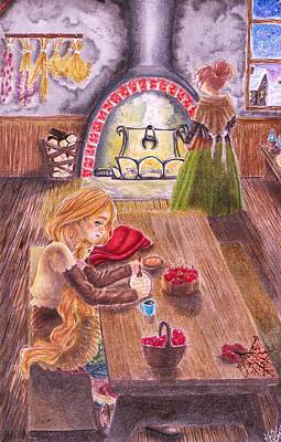 Storybook Drawing - A Warm Home by Milbeth Morillo
