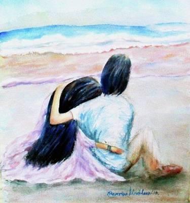 Painting - A Warm Hug by Wanvisa Klawklean