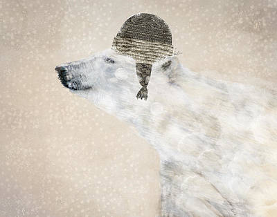 Bear Digital Art - A Warm Polar Bear by Bri B