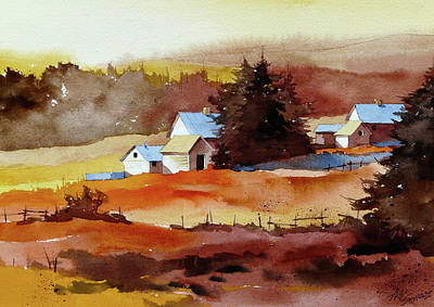 Painting - A Warm Sunrise by Art Scholz