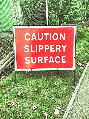 Legislation Photograph - A Warning Sign by Tom Gowanlock
