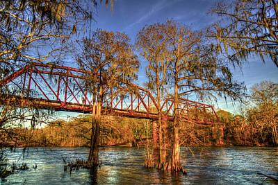 Photograph - A Wash With Sun Norfolk Southern Trestle Bridge Albany Georgia Art by Reid Callaway