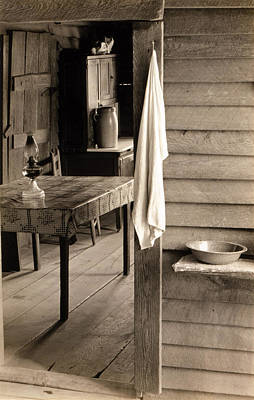 1930s Candid Photograph - A Washstand In The Dog Run And View by Everett
