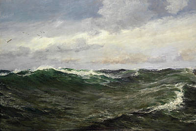 Sea View Painting - A Waste Of Waters by Charles Napier Hemy