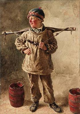 Boy Painting - A Water Carrier by MotionAge Designs