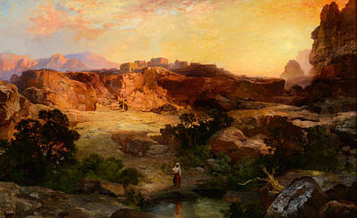 1907 Painting - A Water Pocket Northern Arizona by Celestial Images