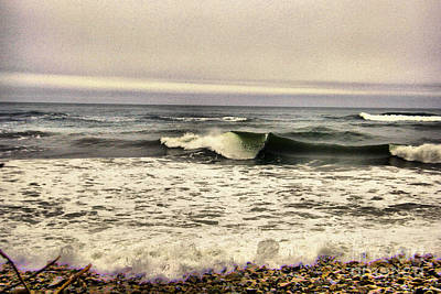 Photograph - A Wave Curling Over by Jeff Swan