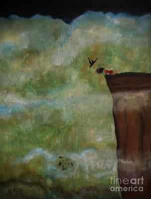 Nightsky Painting - A Way Down Elizabeth A Soroka by Elizabeth A Soroka