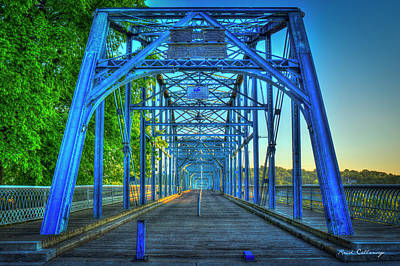Photograph - A Way Walnut Street Pedestrian Bridge Chattanooga Tennessee by Reid Callaway