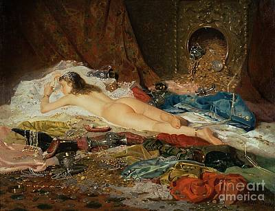 Odalisque Painting - A Wealth Of Treasure by Della Rocca
