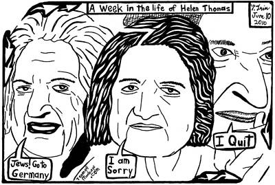 Whitehouse Mixed Media - A Week In The Life Of Helen Thomas By Yonatan Frimer by Yonatan Frimer Maze Artist
