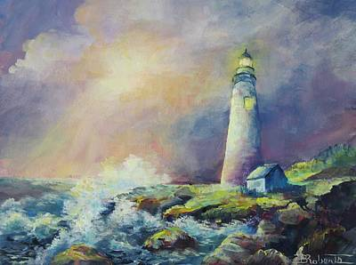 Painting - A Welcome Light by Bonny Roberts