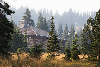 Log Cabins Photograph - A Welcome Sight by Angie Vogel