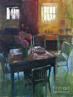 Wall Art - Painting - A Welcoming Table by Patrick Saunders