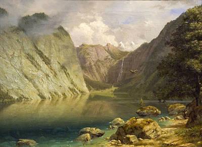 Painting - A Western Landscape by Albert Bierstadt