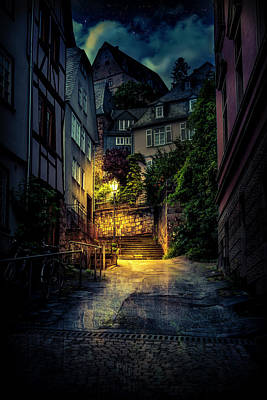 A Wet Evening In Marburg Art Print