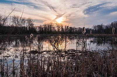 Wetlands Photograph - A Wetlands Sunset by Kristopher Schoenleber