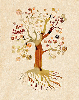 Mixed Media - A Whimsical Tree by Frank Tschakert