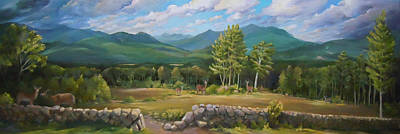 Painting - A  White Mountain View by Nancy Griswold