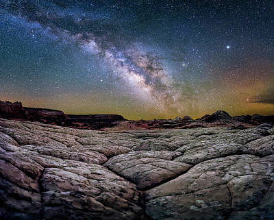 Photograph - A White Pocket Nightscape by Michael Ash