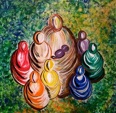 Oneness Painting - A Whole Humanity by Simran