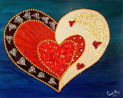 A Whole Lot Of Love Art Print by Carole Ray
