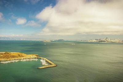 Photograph - A Wide View Of San Francisco Bay Looking Toward The City And Alc by Rusty R Smith
