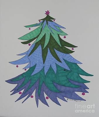 A Wild Christmas Tree Art Print by James SheppardIII