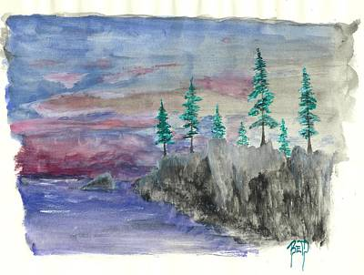 Painting - A Wild Moment by Robert Meszaros