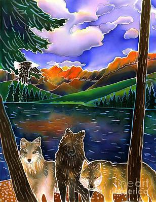 Yellowstone Painting - A Wild Place by Harriet Peck Taylor