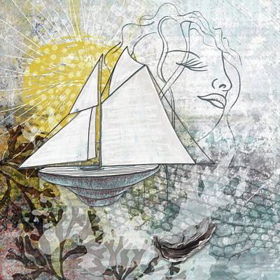 Digital Art - A Wind Of Surf by Christine MARTIN