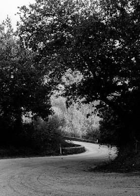 Photograph - A Winding Road Bw by Andrea Mazzocchetti