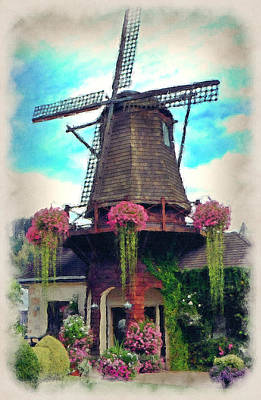 Photograph - A Windmill Garden by Lori Seaman