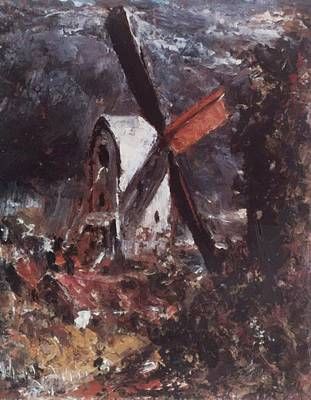 Painting - A Windmill Near Brighton by Constable John