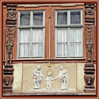 Holy Family Photograph - A Window In Mainz 3 by Sarah Loft