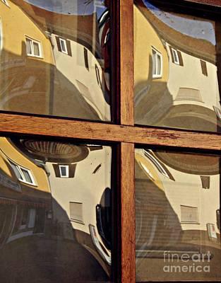 Beige Glass Photograph - A Window In Schierstein 5 by Sarah Loft