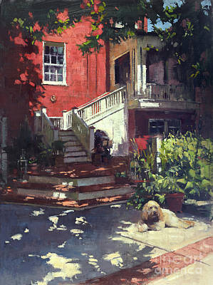 Wall Art - Painting - A Window On Bentley's Backyard by Patrick Saunders