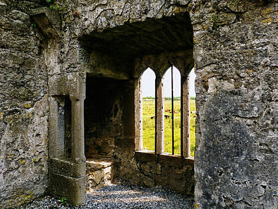 Photograph - A Window Seat In Ross Abbey Ireland by Menega Sabidussi