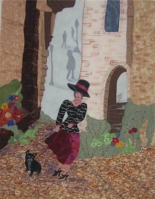 A Windy Paris Day Art Print by Rhoda Forbes